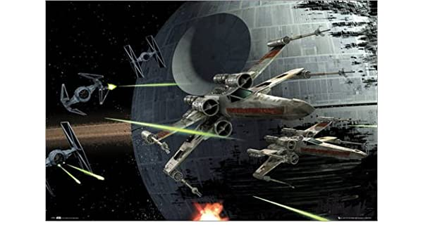 Póster Star Wars - Death Star Battle - cartel económico ...