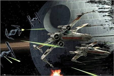 Póster Star Wars - Death Star Battle - cartel económico, póster ...
