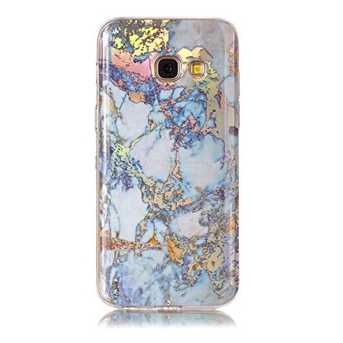 Samsung Galaxy A3 2017 / A320 Handy Hülle mit Marmor Muster, Docrax Handyhülle Silikon Stoßfest Kratzfest Schutzhülle Bumper Case für Samsung Galaxy A3 (2017) - DOYHU42920 Weiß Gold