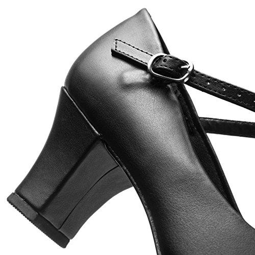 So Danca CH102 Damen Ballroom Balboa Charakter Tango Tanz Schuhe flexibel schwarz Schwarz