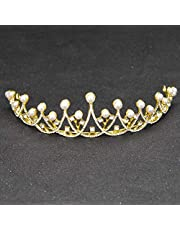Stylish and Elegant Crown Princess Crown Crystal Big Hoop Performances Birthday Party Crown Hair Ornaments Headdress Senior Royal Treasures Simple Children wsd