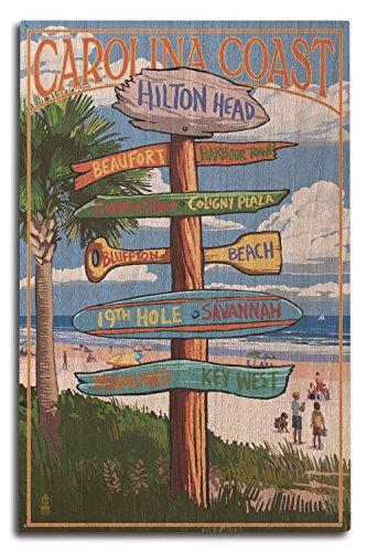 Lantern Press Hilton Head, South Carolina - Destinations Sign (10x15 Wood Wall Sign, Wall Decor Ready to Hang)