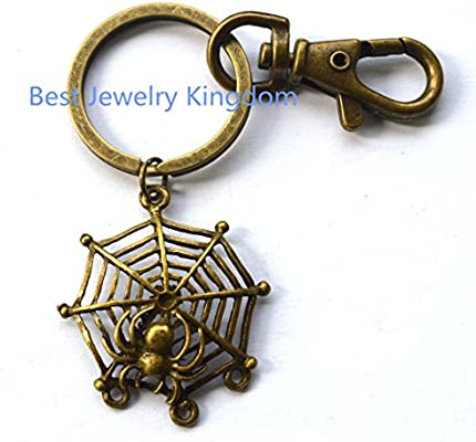 Amazon.com: Llavero de araña, araña y calavera Keychains ...