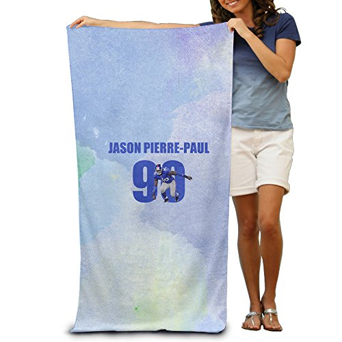 POY-SAIN Jason Pierre-Paul Bath Towel And Beach Towel Size White