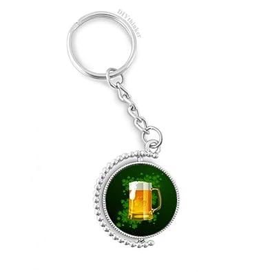 DIYthinker Día giratoria Llavero de la Cerveza de Irlanda ...