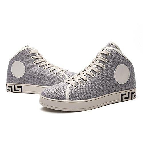 Scarpe Scarpe con per Cricket Moda Grigio Uomo da Ginnastica da Sneaker Piatto Tacco 6nzSr6