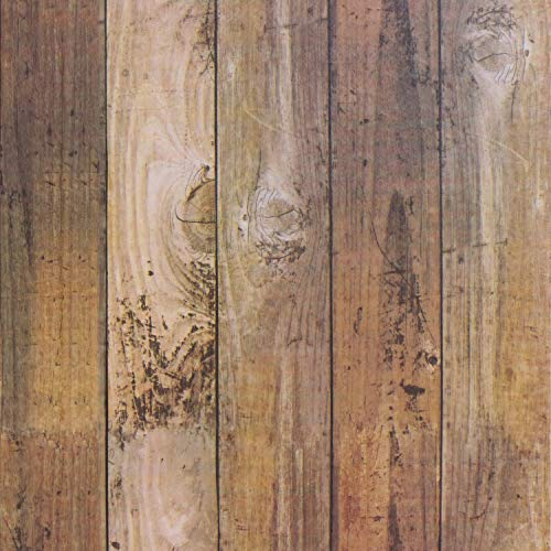 Film Vintage Wood Panel Wallpaper Self Adhesive Removable Wall Covering Decorative Faux Distressed Wood Plank Wooden Grain Vinyl Decal Roll 17.8