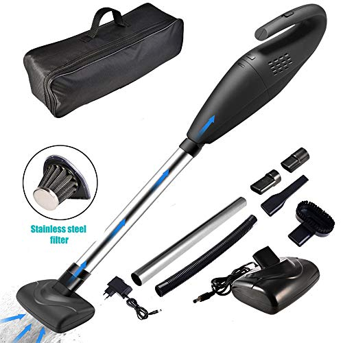 ACUMSTE Car Vacuum Cleaner, Handheld Vacuum Cordless Rechargeable 5KPA Powerful Cyclonic Suction Cleaner Multifunctional Wet Dry Cordless Vacuum Cleaner