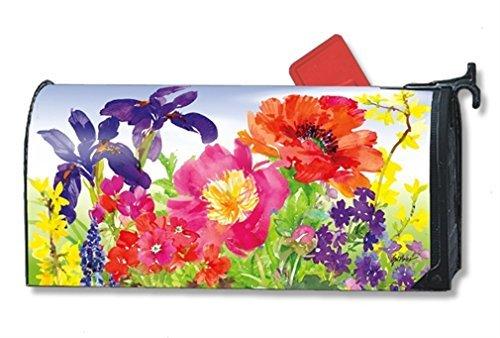 MailWraps Garden Blooms Mailbox Cover 01326