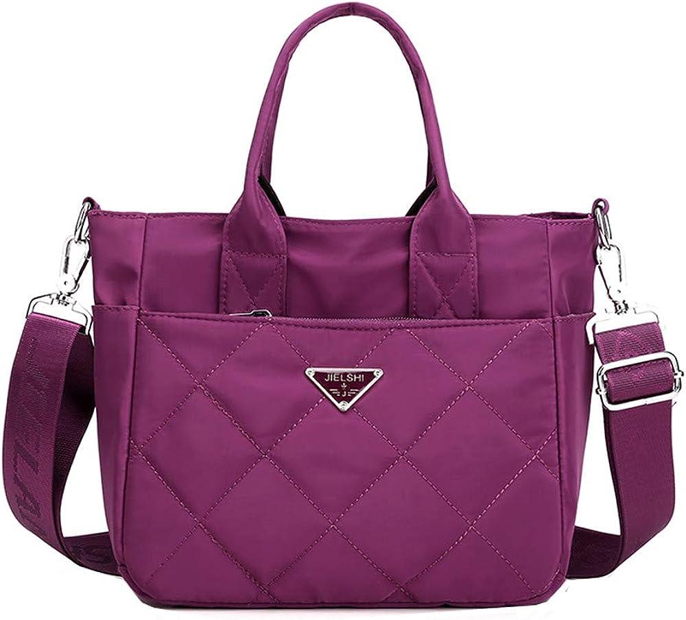 Women's Nylon Handbag Fashion Tote Shoulder Bag Shopper Purse Crossbody Bag