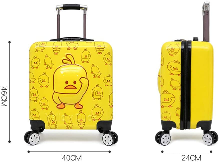 20 Inch Small Yellow Duck Childrens Lightweight Suitcase 360 Million Wheel Anti-theft Password Trolley Case Childrens Trolley Case