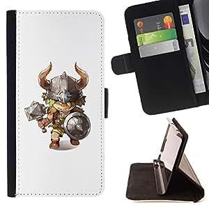 Momo Phone Case / Flip Funda de Cuero Case Cover - Caractère Marteau Horns enfants - Motorola Moto E ( 1st Generation )