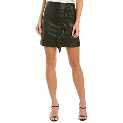 1.State Women's Ruffled Faux Leather Mini Skirt at Women's Clothing store