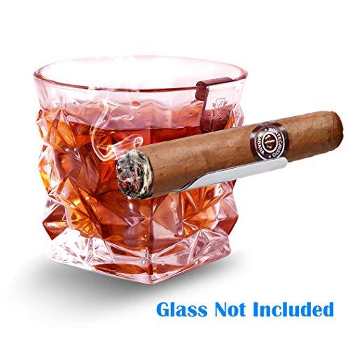 BORAVIS Whisky Cigar Glass Holder Silver