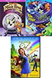 Animated Legends Wizard of Oz Tom & Jerry DVD Collection / Dorothy's Return + Magic Ring Tom & Jerry Double Feature Bundle 3 Movie Cartoon Set