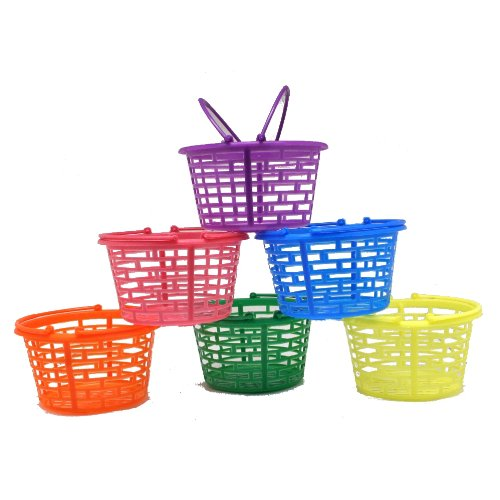 - Fun Express Plastic Bright Round Baskets : Package of 12
