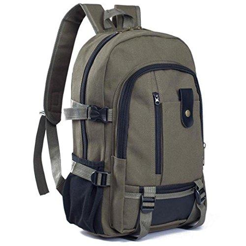Canvas Backpack,Kimloog Men Sport Satchel School Bags Casual Travel Hiking Rucksack (Army - Casual Imported