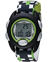 Boys TW7C13000 Time Machines Digital Black/Green Fabric Strap Watch