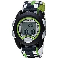 Boys TW7C13000 Time Machines Digital Black/Green Fabric Strap Watch
