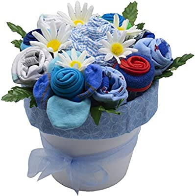 Baby Boy Clothing Bouquet 3-6 Months Baby Shower Gift Personalised New baby Gift Baby Clothing