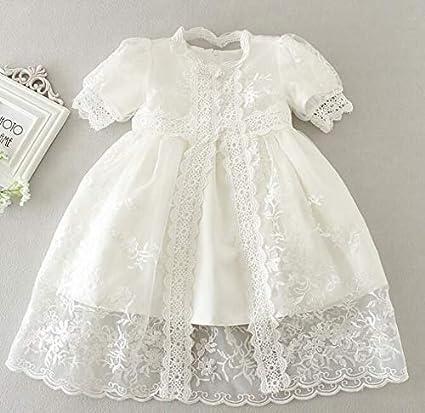 Bow Dream Baby M/ädchen Kleider Taufbekleidung Taufe F/örmlich Bonnet Schuhe Hochzeit Spitze Kopfband Bloomer