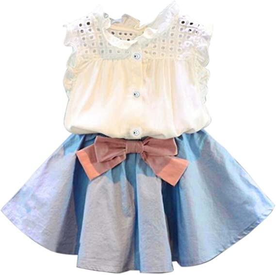 Conjunto de Falda Corta para niñas, 2 Piezas Niños niñas bebé Ropa ...