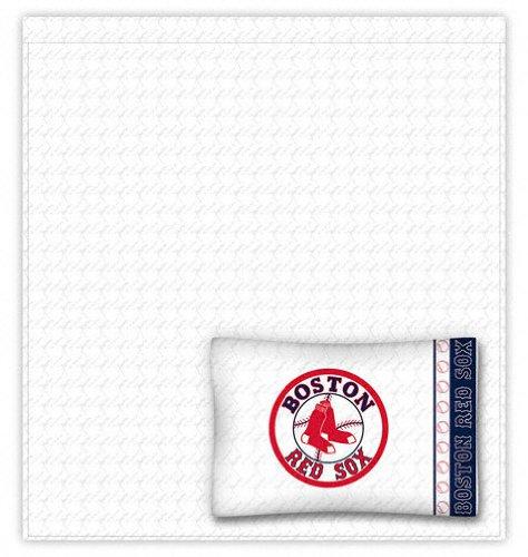 Boston Red Sox Sheet Set - Twin Bed (Sox Twin Sheet Set)