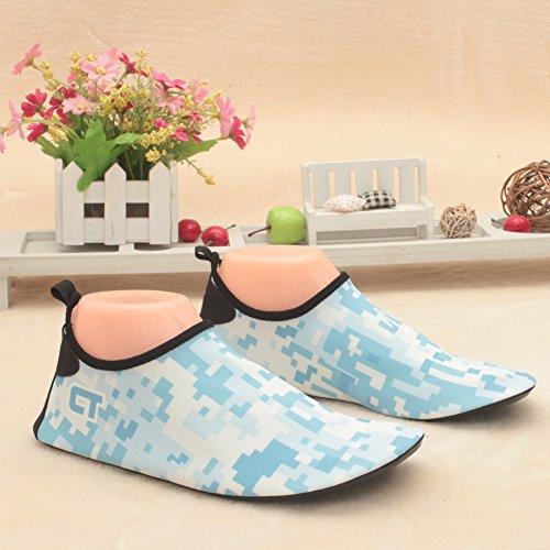 SENFI Lightweight Quick-Dry Water Shoes For Water Sport Beach Pool Camp (Men, Women, Kids) M.aqua