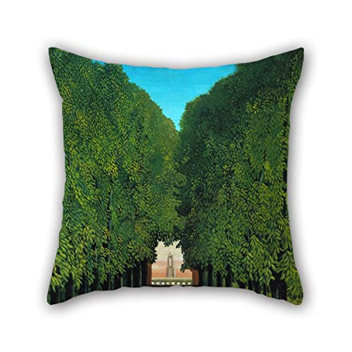 (20 X 20 Inches / 50 By 50 Cm Oil Painting Henri Rousseau - The Avenue In The Park At Saint Cloud Pillow Shams Each Side Is Fit For Lover Valentine Son Father Office Home Theater for Christmas)