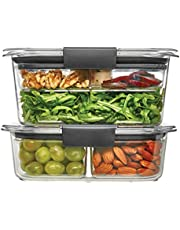 Rubbermaid Brilliance Food Storage Container, Salad and Snack Lunch Combo Kit, Clear, 9 Piece Set 1997843