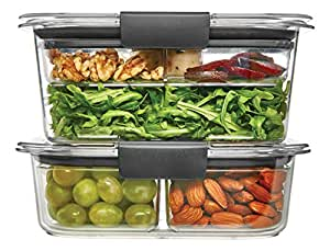 Rubbermaid Brilliance Food Storage Container, Salad and Snack Lunch Combo Kit, Clear, 9-Piece Set 1997843