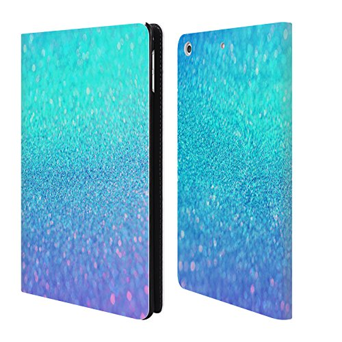 official-haroulita-turquoise-and-purple-glitter-sparkle-leather-book-wallet-case-cover-for-apple-ipa
