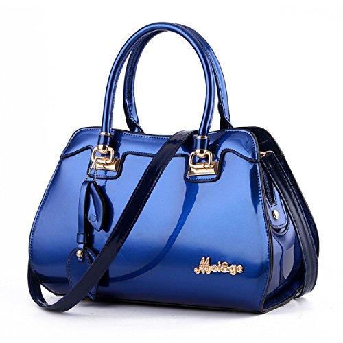 Bolso De Mujer Fashion Bright Bolso De Gran Capacidad,Blue SapphireBlue