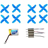 Micro Drone Spare Parts With 3.7V 150mAh Battery and 4 Motors, 8 Propellers for JJRC H36 Quadcopter