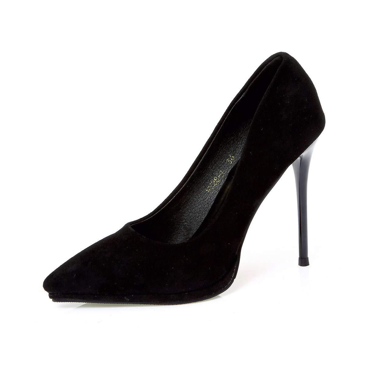 LBTSQ-Einzelne Schuhe Dünne Sohle Sagte Schuhe Wildleder Wildleder Wildleder Flachen Mund 10Cm Wasserdicht High-Heel schuhe Temperament. 44b63d