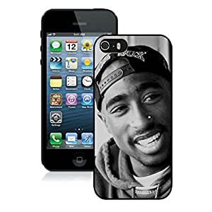 iPhone 5S Case,Tupac Shakur (2) Black For iPhone 5S Case
