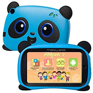Panda 7 Kids Tablet with Case Included Android Tablet 7 Inch - 16 GB ROM WiFi, Kid Proof with Camera and Parental Controls