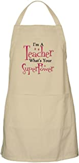 CafePress - Super Teacher Apron - Kitchen Apron with Pockets