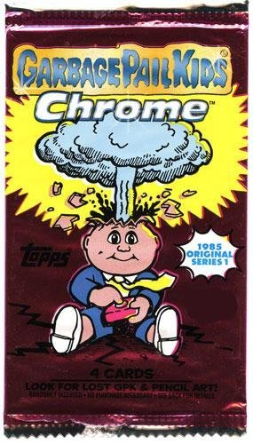 Topps Garbage Pail Kids 2013 Chrome RETAIL Pack [Comes From Value]