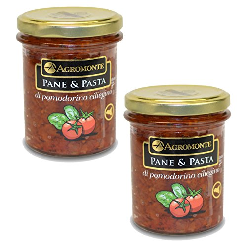Agromonte Authentic Italian Cherry Tomato Pane and Pasta Original Certified Kosher 7.48 oz 2 pack