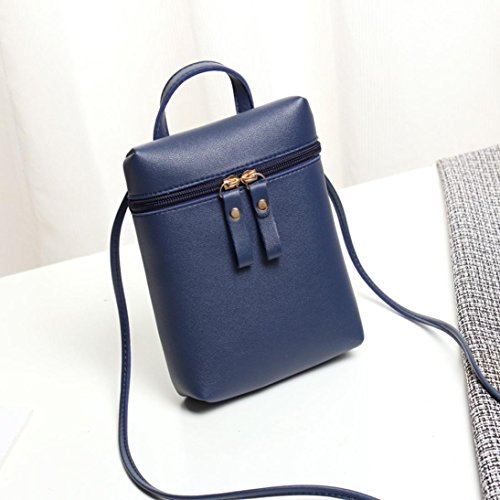 Shoulder Handbags Mini Blue Womens Mini Cross Body Chic Coin Messenger Bags Girls Purses Inkach Bag Small Square by z6ZnxcWgS