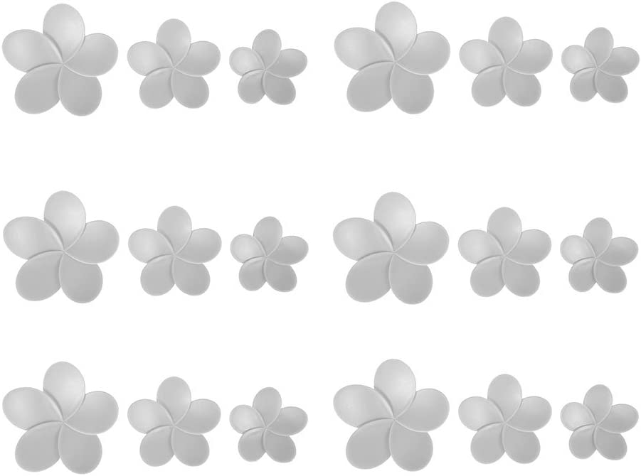 32.1/x 7/x 12/cm 18/pi/èces Rose Ostaria Hibiscus D/écoration Murale