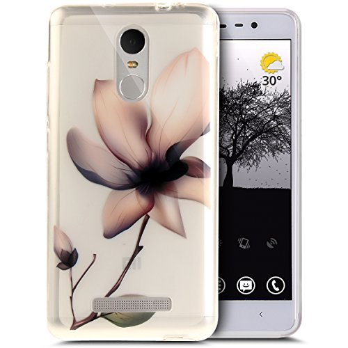 Price comparison product image Xiaomi Redmi Note 3 Case,Xiaomi Redmi Note 3 Cover,ikasus Ultra Thin Soft TPU Case,Art Painted Soft Silicone Rubber Case,Crystal Clear Soft Silicone Back Cover for Xiaomi Redmi Note 3,Pink Flower