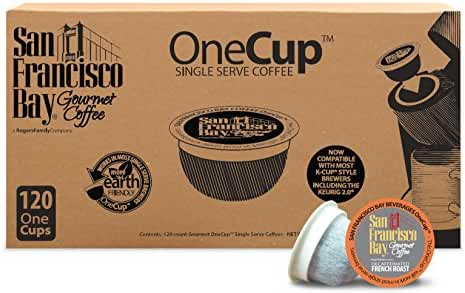 San Francisco Bay OneCup, Decaf French Roast, 120 Count- Single Serve Coffee, Compatible with Keurig K-cup Brewers