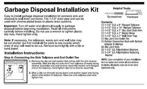 Garbage Disposal Installation Kit