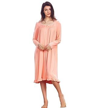 dorekim manga larga camisón/vestido dormir para mujer/pijamas de naranja dk3687