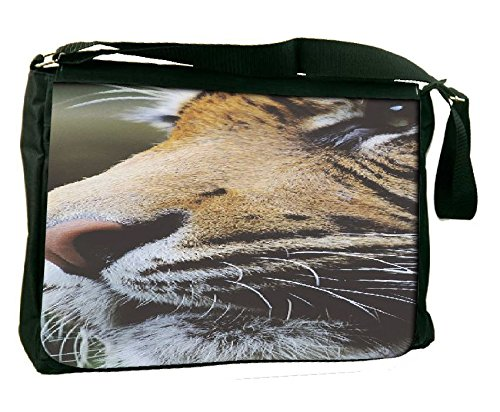 Snoogg Tiger Computer Padded Compartment Carrying Case Laptop Notebook Shoulder Messenger Bag