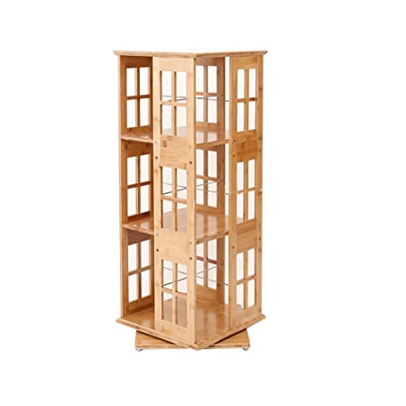 HTZ Shelf 3 4 5 6 Layer Bookcase Wooden Bamboo Leisure Home