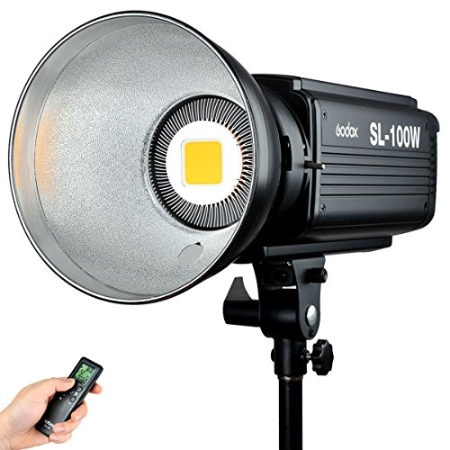 Godox SL-100W 100WS Studio Continuous Video Light Lamp Bowens Mount w/ Remote Control For Camera DV Camcorder 5600K White Version by Godox