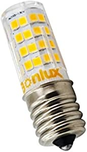 Bonlux 2-Pack E17 Intermediate Base LED Light Bulb, 4W (40W Equivalent) LED Appliance lamp for Home, Kitchen Appliances and Light Fixtures (Non-dimmable, Daylight 6000K)